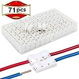 RUNCCI-YUN 71PCS Conector del cable de resorte CH2, conector de terminal de clip, conector rápido de resorte de conector, conector de barra de luz LED