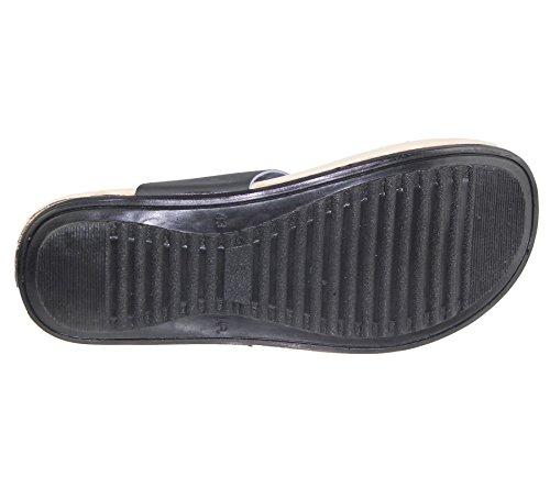 Homme orteil Post Chaussons décontracté Flip Flop Plage Marche Mode Sandales Noir