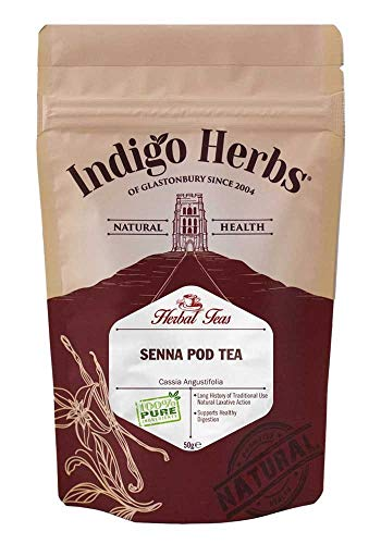 Indigo Herbs Té de Vainas de Sen 50g