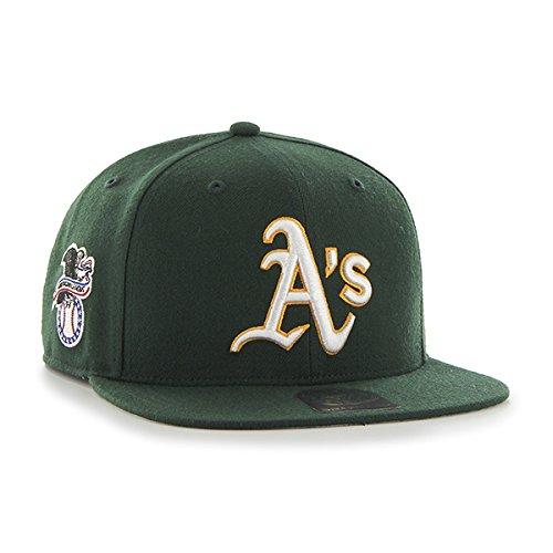 47Unisex MLB Oakland Athletics Sure Shot Captain Baseball Cap Dark Green