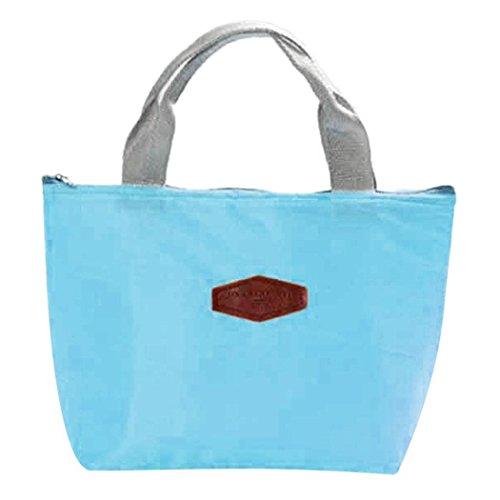 Oplon Zipper Portable Solid Aluminiumfolie Isolierte Kühler Lunch Bag Brotdosen & Wasserflaschen