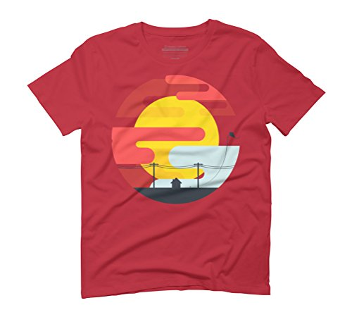 Kite in the sunrise Men's Graphic T-Shirt - Design By Humans Red