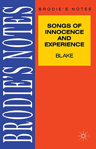 Blake: Songs of Innocence and Experience (Brodie's Notes)