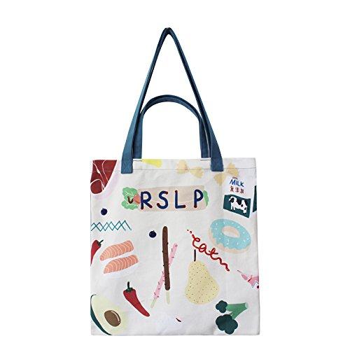 Original Print Flower Style Schultertasche Schultertasche Messenger Bag,Food-OneSize - Print Tote-geldbeutel