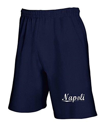 Cotton Island - Pantalone Tuta Corto TSTEM0275 napoli vintage Blu Navy