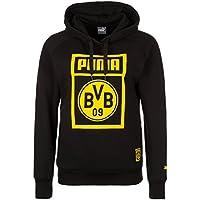 Puma BVB Fan Wear Hoody WMS Sudadera, otoño/invierno, mujer, color Black, tamaño small