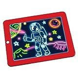 Egosy Leuchtendes Zeichenbrett 3D Magic Drawing Pad Lichteffekte Puzzle Board Kinder 3D Sketchpad Tablet Stift Geschenk LEDs