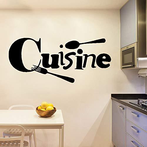 zqyjhkou New Cuisine Wall Stickers Autoadesivo Arte Wallpaper Decorazione Moderna della Parete Decorazione di Arte Fai da Te Home Decor L 43cm X 97 cm
