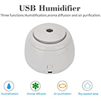 Mini humidificador USB ultrasónico, purificador de aire para casa, oficina, botella de agua