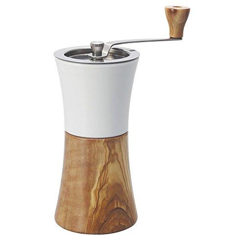 Hario VD Kaffeemühle, Holz/Keramik, Weiß