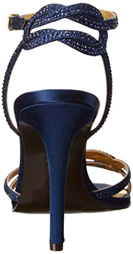 Lauren Ralph Lauren Stephanie Dress Sandal Dark Sapphire Satin/Stones