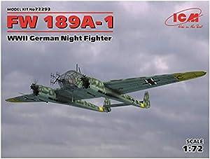 ICM 72293Maqueta de FW 189A de 1WWII German Night Fighter