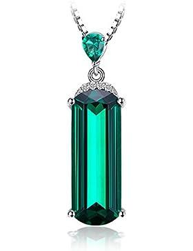 Jewelrypalace 4.42ct Damen Geschenk Simulierte Grün Nano Russisch Smaragd Anhänger Halskette Kette Mit 45cm Box...
