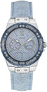 Guess Sport Watch for Women, Stainless Steel Case, Blue Dial, Analog -W0775L1