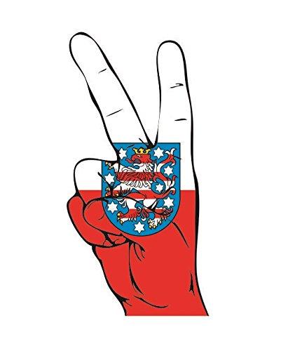 U24 Aufkleber Peace Finger Thüringen Autoaufkleber Sticker