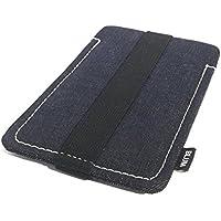 Blum - Jeans Hülle - Größe L - Passend für Samsung Galaxy S8 | S7 | S6 Edge | S5 Neo | A5 | Note 3 Neo etc. - Schlaufe schwarz