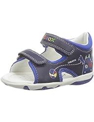 Geox B SANDAL ELBA BOY A - Zapatos primeros pasos de cuero para niño