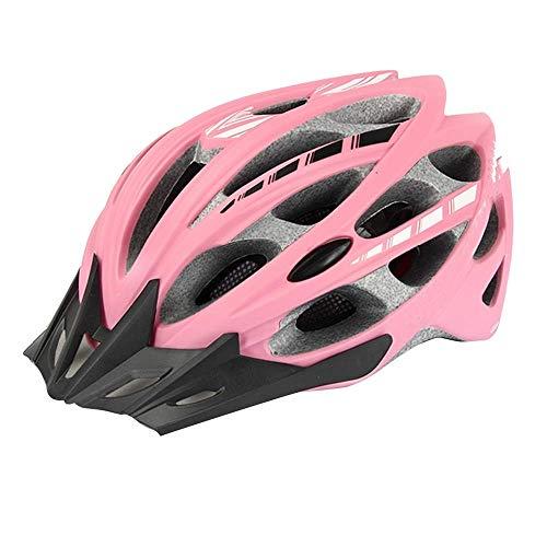 CXQBYNN Schutzhelme Mountainbike Fahrrad Fahrrad Fahren Helm Hut Straße Insektennetz Ausrüstung Männer und Frauen (Color : Pink, Size : L) -