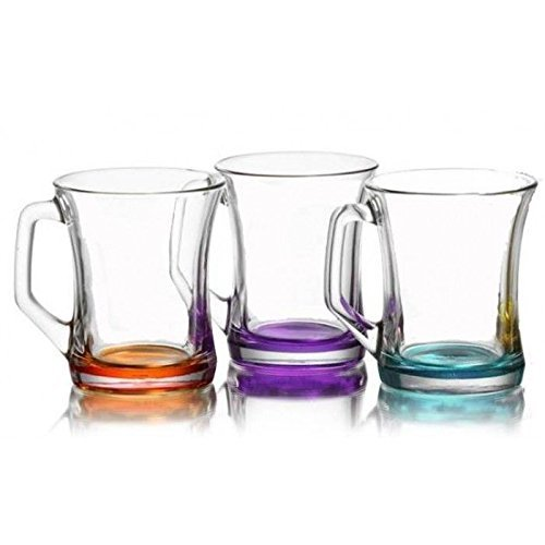 NEW-COLOURED-SET-OF-6-GLASSES-TEA-COFFEE-CAPPUCCINO-CUPS-HOT-DRINK-MUGS-WITH-RAYANDIRECT-BRAND-STRAWS