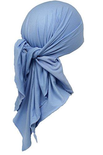 Deresina Headwear Unisex Extra Große Baumwolle Bandana (Baby blau) -