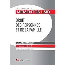 Mémentos LMD - Droit des personnes et de la famille 2016-2017