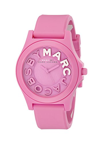 Marc Jacobs MBM4023 39mm Plastic Case Pink Silicone Mineral Women's Watch