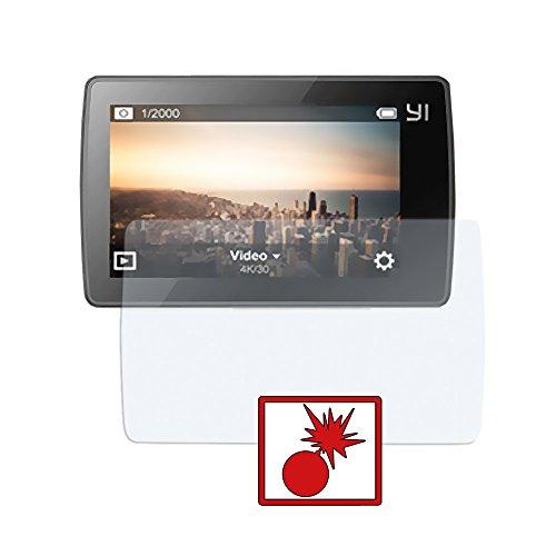 Slabo 2 x Panzerschutzfolie kompatibel mit Xiaomi Yi 4K+ Action Cam Panzerfolie Displayschutzfolie Schutzfolie Folie Shockproof   Stoßfest KLAR