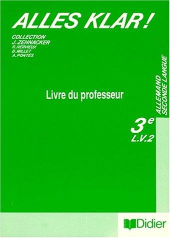 Alles klär !, 3e L.V.2. Guide pédagogique