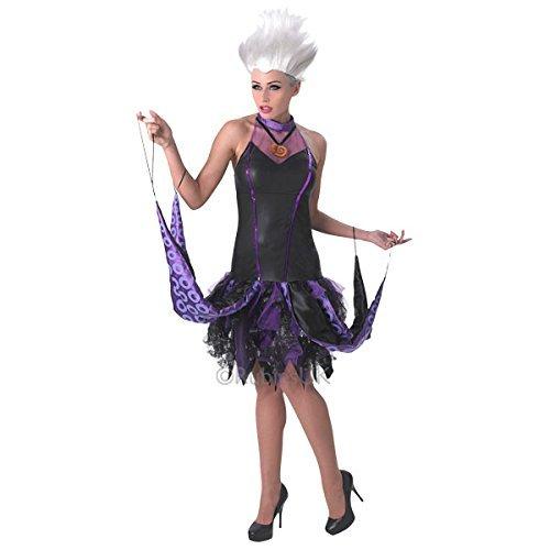 Rubie's 3810250 - Ursula Adult, M, schwarz/lila (Ursula Für Erwachsene Damen Kostüm)