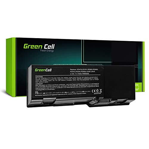 Green Cell® Standard Serie GD761 Laptop Akku für Dell Inspiron 1501 E1505 6400 Vostro 1000 Latitude 131L (6 Zellen 4400mAh 11.1V Schwarz) (Dell Akku Laptop Inspiron Für 1501)