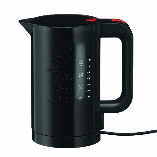 Bodum Bistro Elektrischer Wasserkocher (Automatisches Abschalten, 2200-Watt, 1,0 liters) schwarz