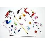 Katzenspielzeug 24- teiliges Set Angel Bälle Maus