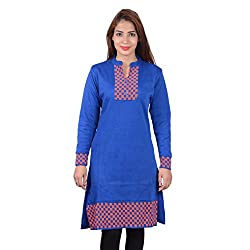 Nikky Fashion Women's Woolen Kurti (ROYLBLU665_Blue_M)