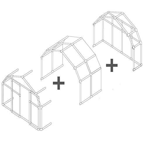 RION Kunststoff Gewächshaus Erweiterung 'Prestige Modul' // 197 x 124 x 193 (BxLxH) //...