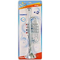 Bontempi 32 3802 4 Notes Trumpet in Blister, Multi-Color