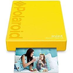 Polaroid Mint Imprimante avec technologie Zink Zero Printer Ink et Bluetooth intégré pour appareils Android et iOS - Jaune