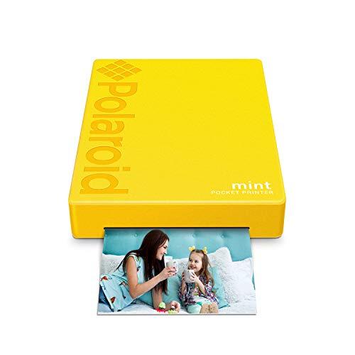"""Preisvergleich Produktbild Polaroid Mint: Taschendrucker mit Zink-Papier. Bluetooth für Android- und iOS-Geräte. Druckt in selbstklebendem Zink-Papier 2x3""""- Gelb"""