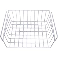 3 estantes de armario de metal con acabado de estantes de metal para armarios de cocina debajo del compartimento de estantes para colgar 30.5cm*25.5cm*12.5cm blanco