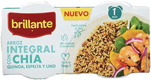 Brillante Arroz Integral Con Chía, Quinoa, Espelta Y Lino 125G X 3 - [Pack De 8] - Total 2 Kg