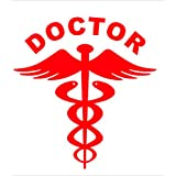 Isee360 Reflective Red Doctor Decal 2Nos / Sticker For Any Car