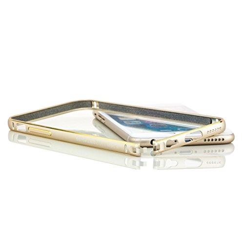 Nillkin. Aluminium Bumper Apple iPhone 6 6S Premium Alu Case Hülle Rahmen mit Goldrand | Gold Gold