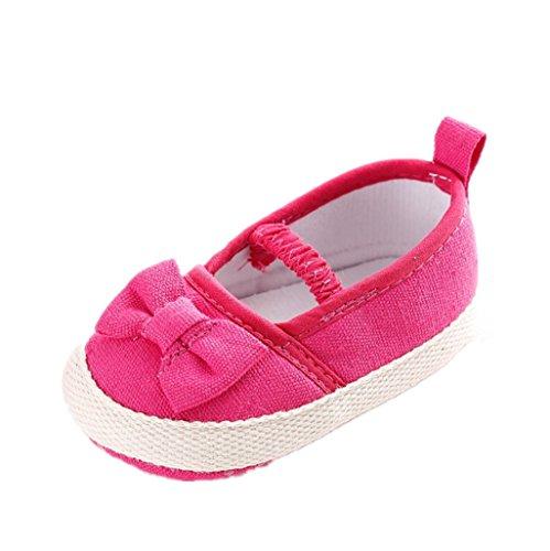 BabySchuhe Auxma Baby Mädchen Soft Sole Bowknot Schuhe Soft Bottom Prewalker Sneakers Für 3-6 6-12 12-18 Monat Rose
