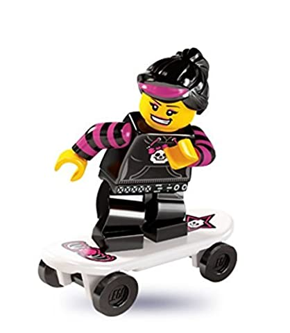 LEGO Minifigures Series 6 Skater Girl COLLECTIBLE Figure Roller Skate Board Extreme Sport