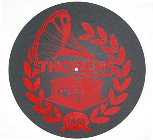 Thorens Plattenspieler Filzmatte (schwarz mit rotem Thorens-Logo)