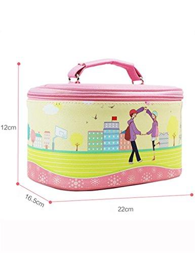 Boîte de rangement de haute qualité pour les cosmétiques portables (22 * 16.5 * 12cm) ( couleur : A )