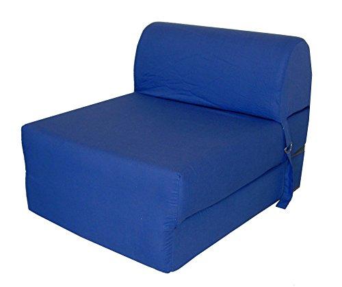 Chauffeuse convertible Tissu Bleu 75 x 58 x 48 cm