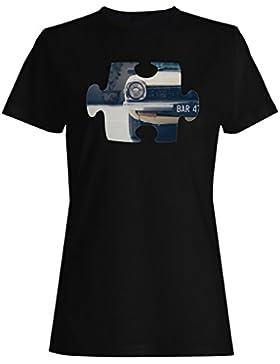 Rompecabezas viejo vintage hermoso coche camiseta de las mujeres e658f