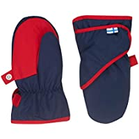 Finkid Lapanen navy red Kinder Winter Handschuhe