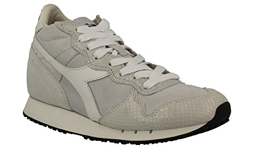 Diadora Heritage EQUIPE W REPTILE, donna,pelle scamosciata, sneaker FW15 (37, Bianco)