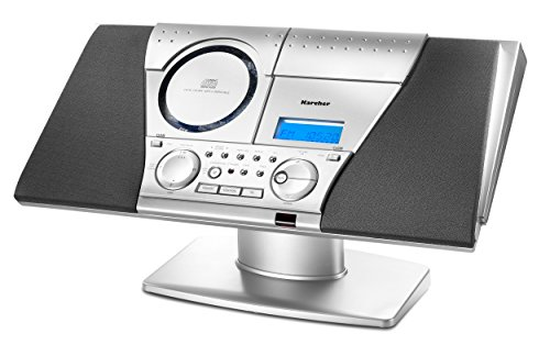 Karcher MC 6550N Musik-Center (CD-Player, MP3-Wiedergabe, PLL-UKW-Radio, CD-RW, Kassettendeck) silber